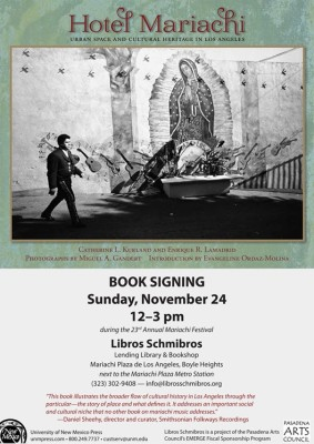 Hotel Mariachi Book Signing at Libro Schmibros