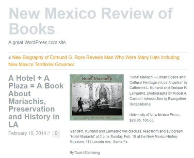 A Hotel + A Plaza = A Book About Mariachis, Preservation and History in LA I New Mexico Review of Books_nmreviewofbooks_crop